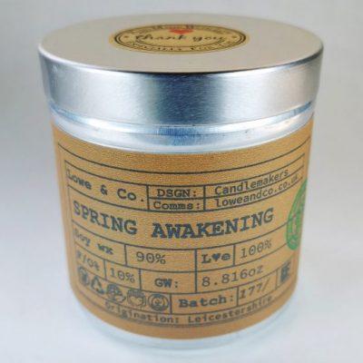 Spring Awakening Tin Candle