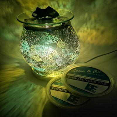 Onyx Eggshell wax burner