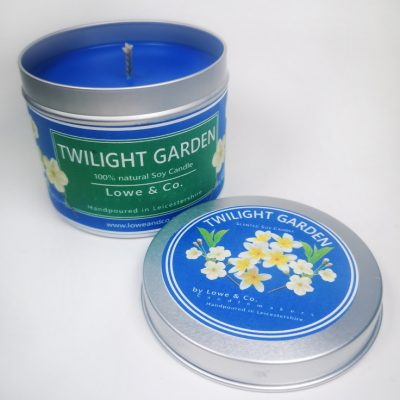 Twilight Gardens Tin Candle