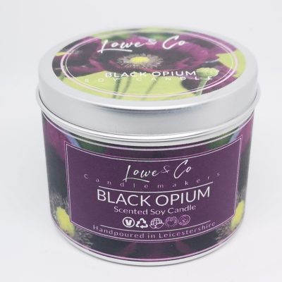 Black Opium Soy Tin Candle