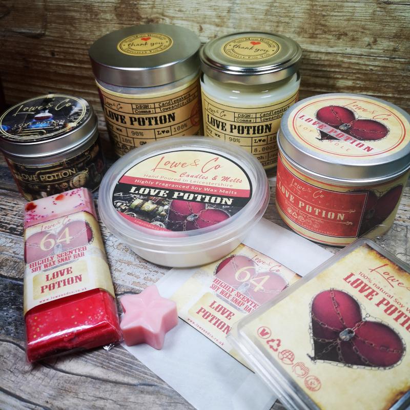 Love PotionSoy Wax Candles & Wax Melts
