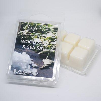 Wood Sage & Sea Salt Clamshell Wax Melts