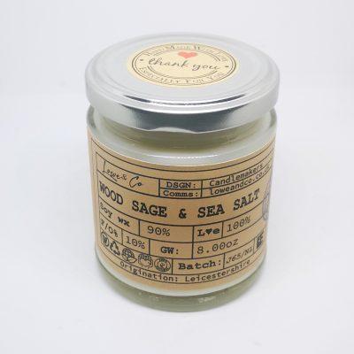 Wood Sage & Sea Salt Jar Candle