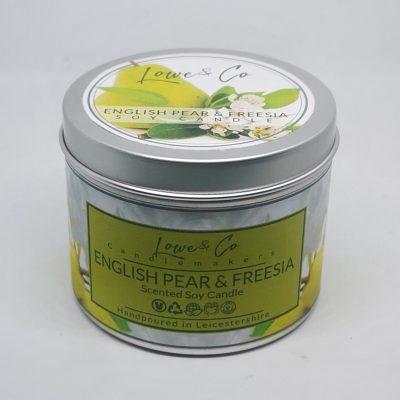 English Pear & Freesia Soy Tin Candle