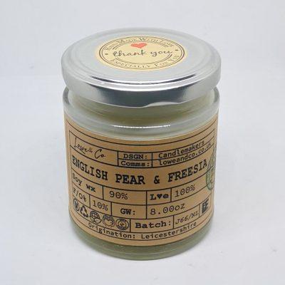 English Pear & Freesia Jar Candle