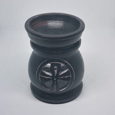 Soapstone Oil burner Celtic cross