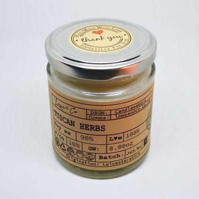 Tuscan Herbs Jar Candle