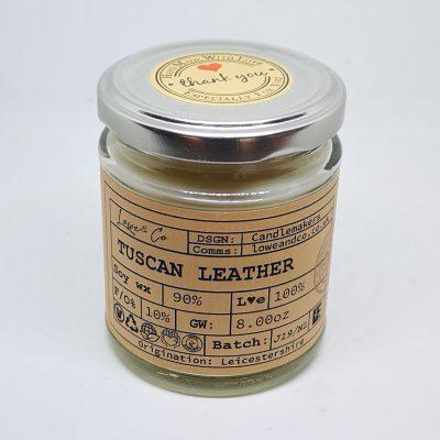 Tuscan Leather Jar Candle