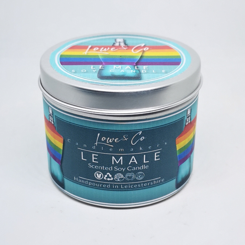 Le Male Soy Tin Candle