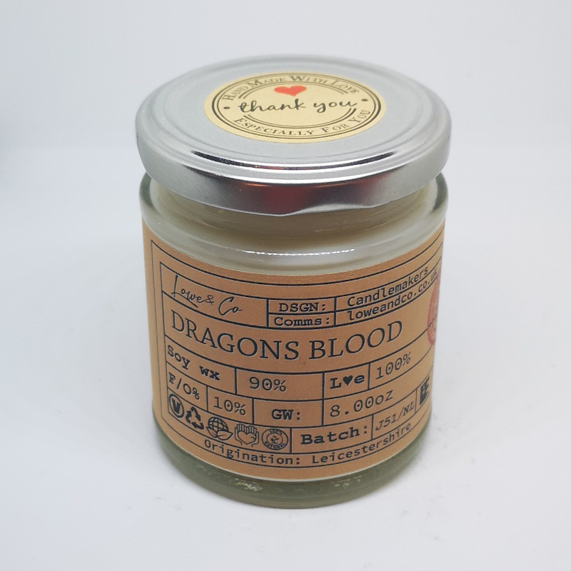 Dragons Blood Jar Candle