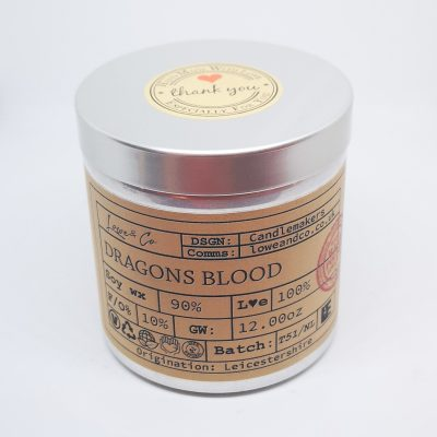 Dragons Blood Soy Tin Candle