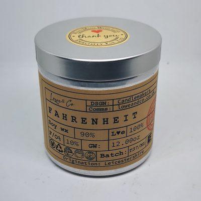 Fahrenheit Soy Tin Candle