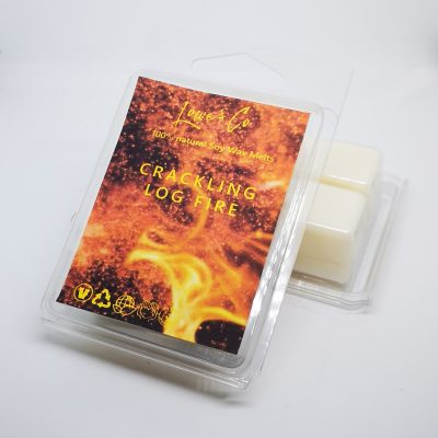 Cracking Log Fire Clamshell Wax Melts