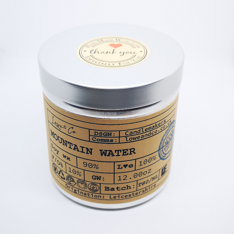Crystal Mountain WaterSoy Tin Candle