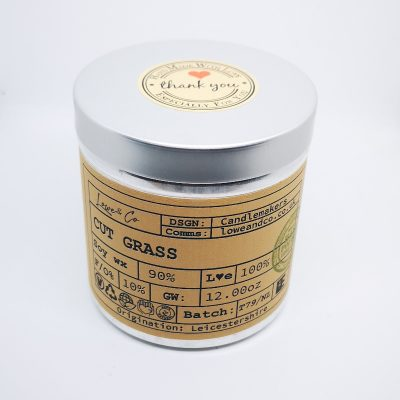 Cut Grass Soy Tin Candle