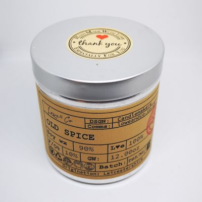 Old SpiceSoy Tin Candle