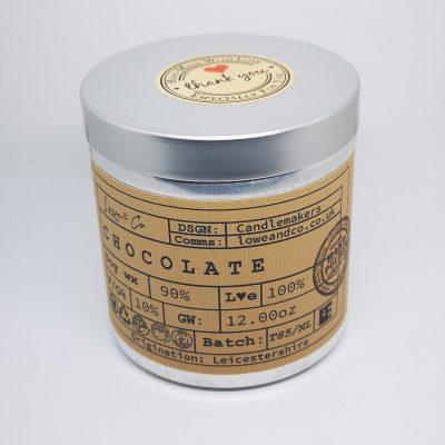 Hot ChocolateSoy Tin Candle